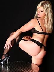 Bondage Laura with ropes