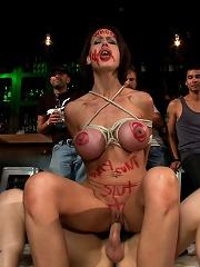 Big Tittied McKenzie Lee is Disgraced in Public Bar