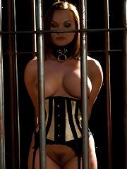 Slave Wife gets Double Stuffed in Bondage