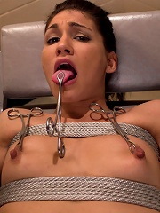 Jade Indica Brutally Violated by Three Fierce Fem Doms Air-Tight Penetration with Strap-ons
