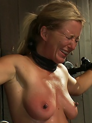 Nipple brutality on the sybian until sweaty and wrecked