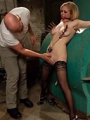 Peeping Tom gets Revenge on Busty Blonde