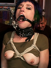 Tightly Bound and Gaged, Ass Fucked in Public