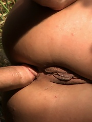 Spanish Hottie gets Throat Fucked on the StreetBound in front of a busy cafe!